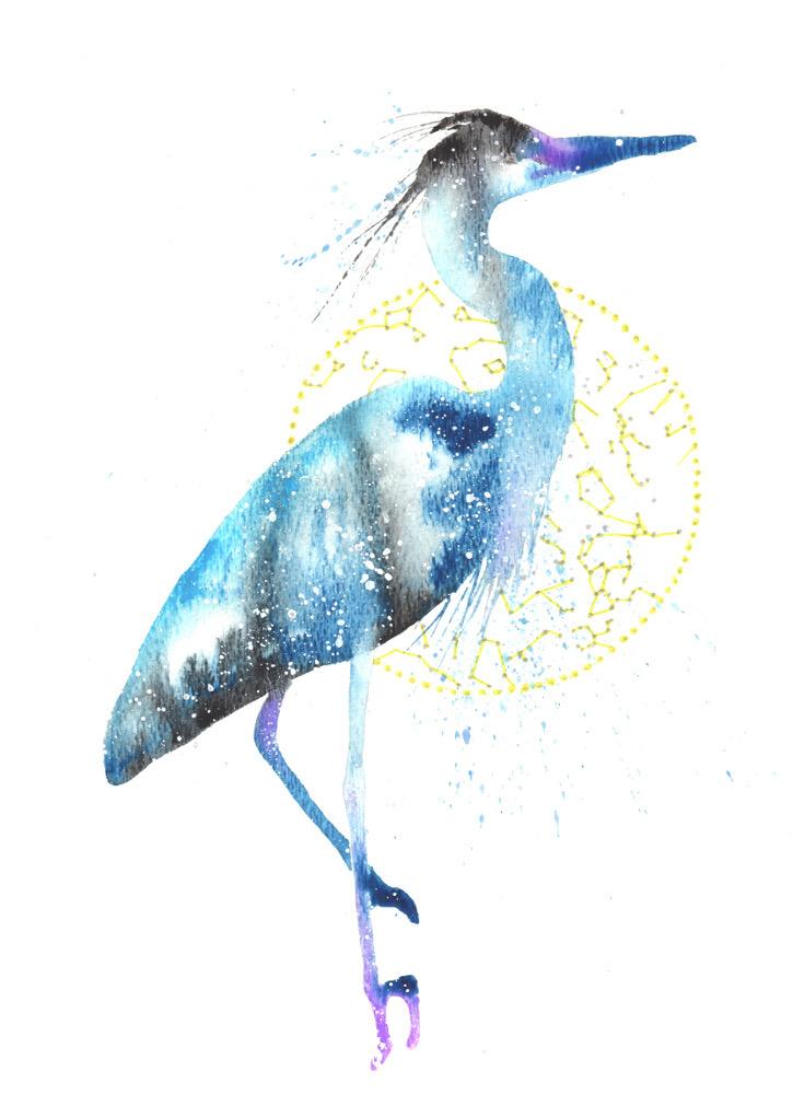 Blue Heron Egret Cosmic Animal Meaning Medicine Magic